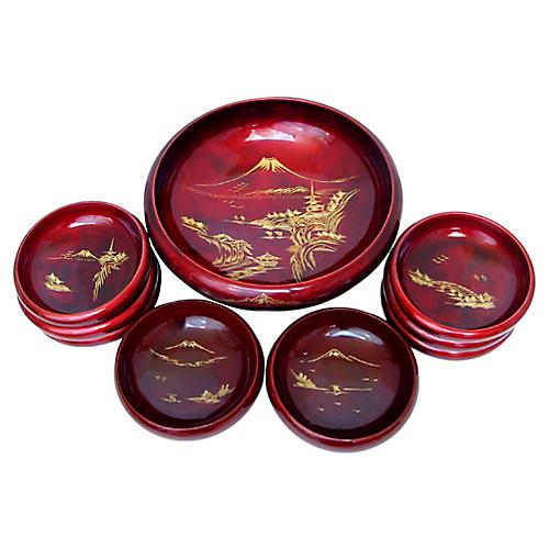Japanese Bowl Set, 9 Pcs