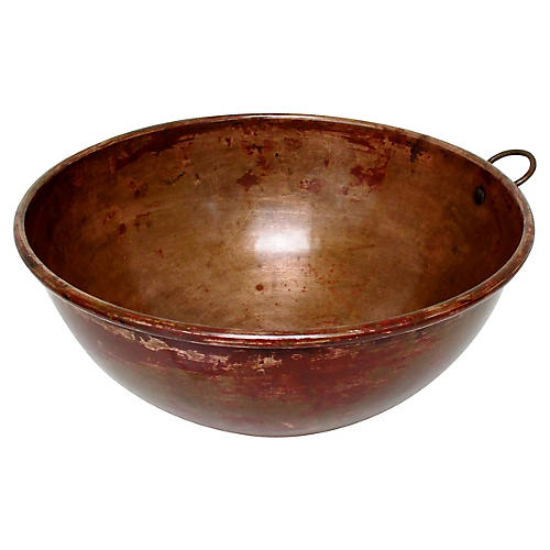 Oversize Copper Beating Bowl