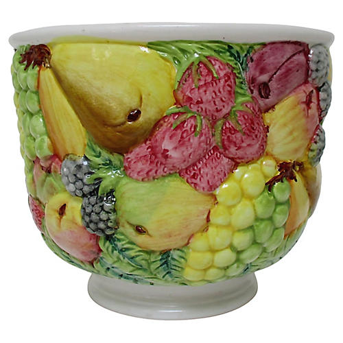 Italian Porcelain Footed Bowl