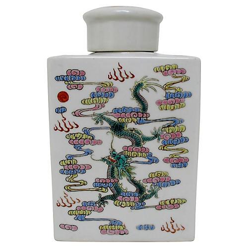 Porcelain Dragon Bottle