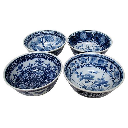 Japanese Porcelain Bowls, Set of 4
