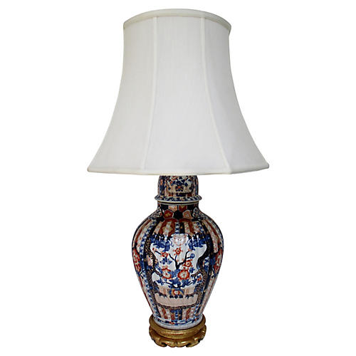 Porcelain Imari Table Lamp