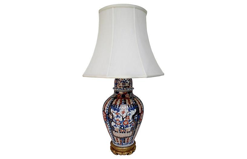 Porcelain Imari Table Lamp