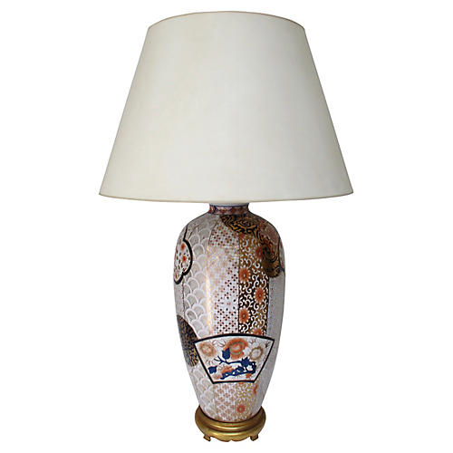 Imari-Style Table Lamp