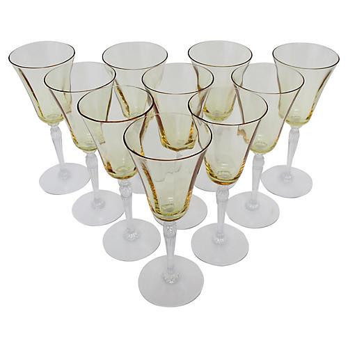 Fostoria Crystal Wineglasses, S/10