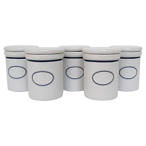 Dansk Spice Jars, Set of 5