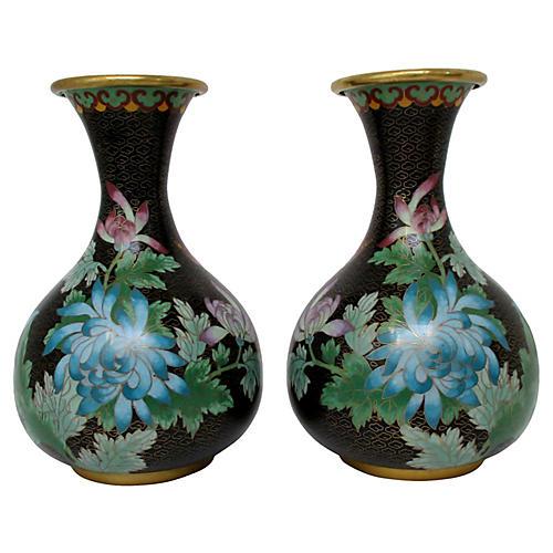 Cloisonné Vases, S/2