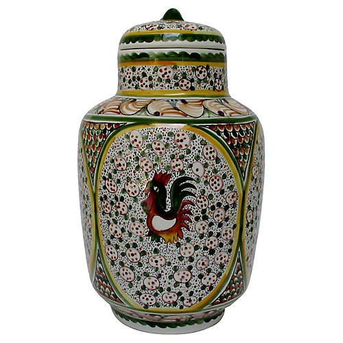 Hand-Painted Porcelain Canister