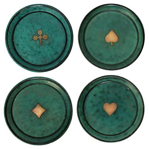 Gustavsberg Coasters, Set of 4