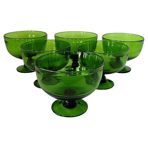 Green Glass Coupes, S/6