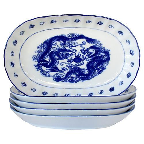 Porcelain Dragon Bowls, S/5