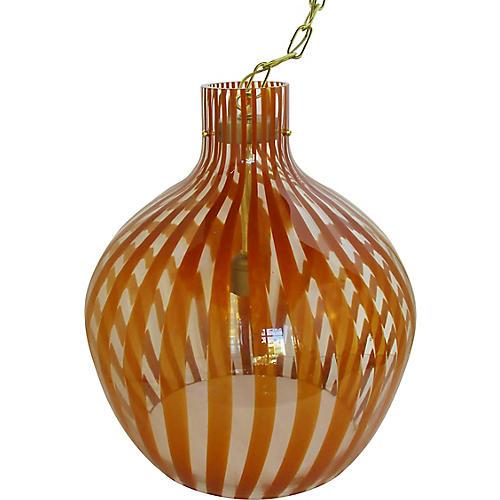 Italian Oversize Glass Pendant