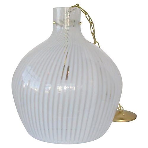 Oversize Italian Glass Pendant