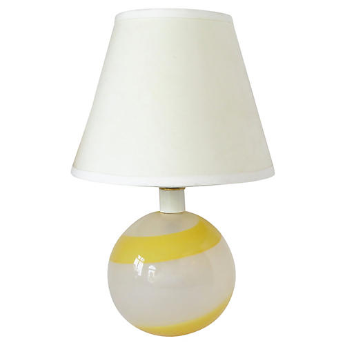 Italian Glass Table Lamp