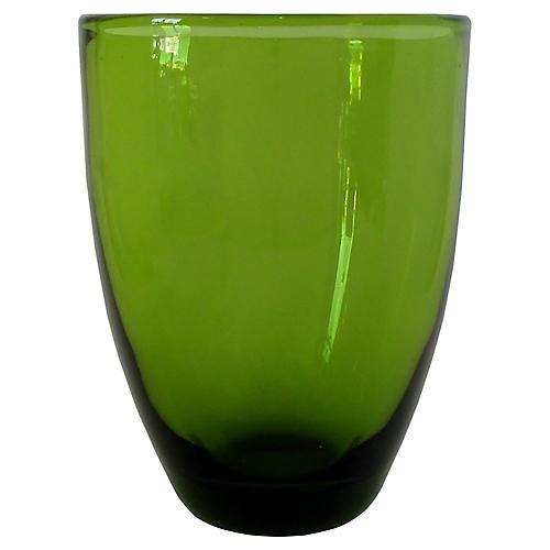 Holmegaard Green Glass Vase