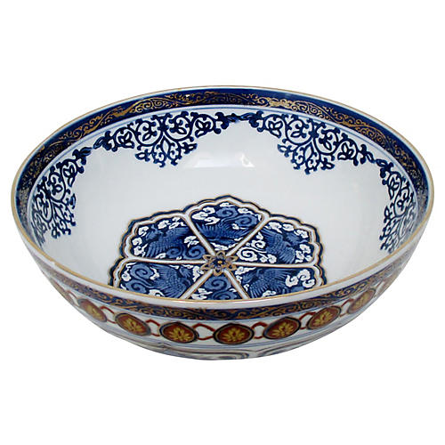 Japanese Gold Imari Porcelain Bowl