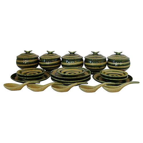 Japanese Porcelain Tableware, 20 Pcs