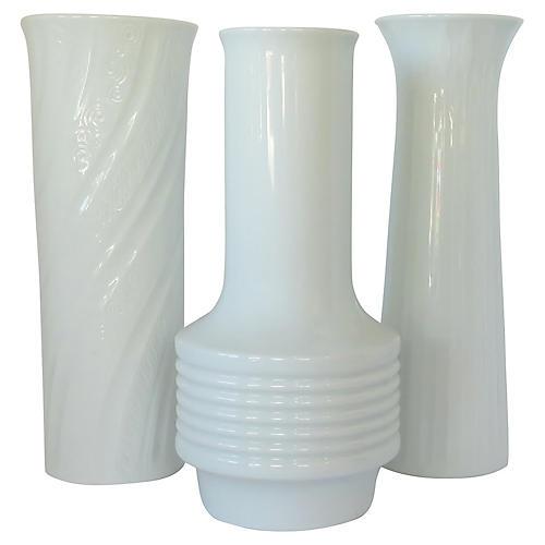 Bavarian Porcelain Vases, S/3
