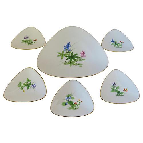 Meissen Appetizer Plates, S/6