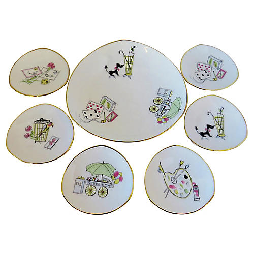 Bavarian Appetizer Plates, S/7