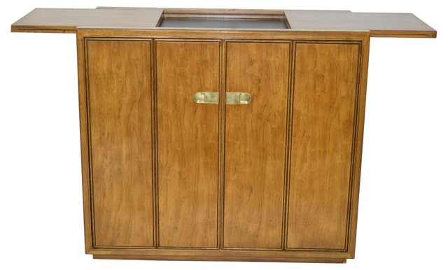 Midcentury Bar Cabinet by Drexel