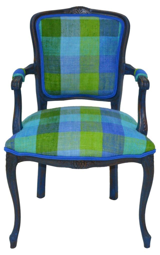 Belgian Linen & Suede Chair