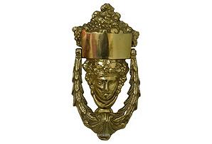 Brass Goddess Door Knocker*