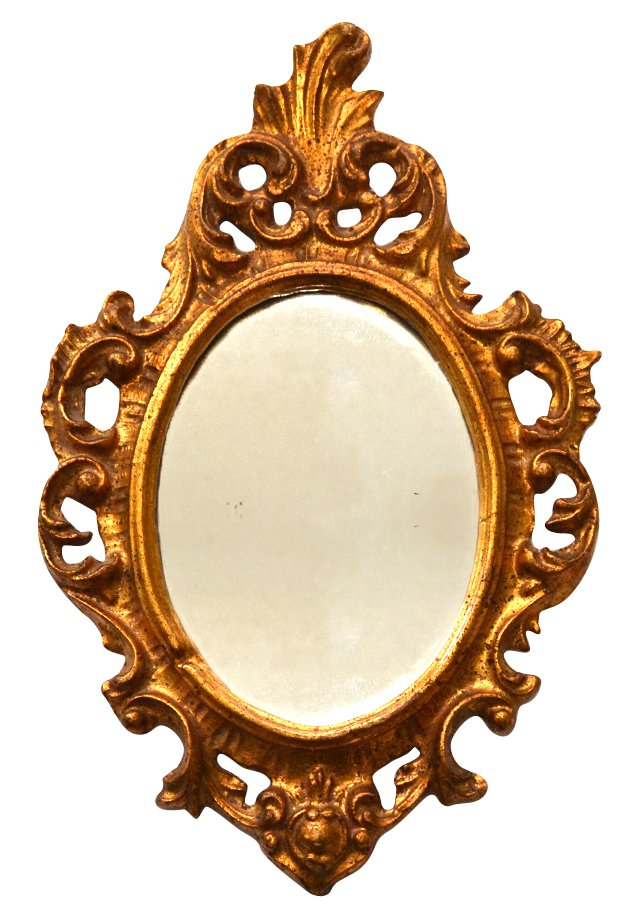 Gold Gilt Florentine Oval Mirror