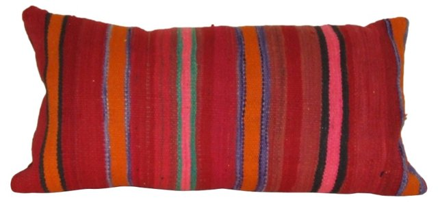 Red Moroccan Handloomed Wool Pillow