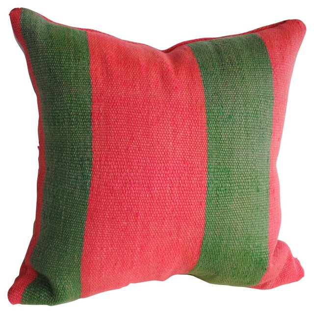 Moroccan Striped Wool  Pillow