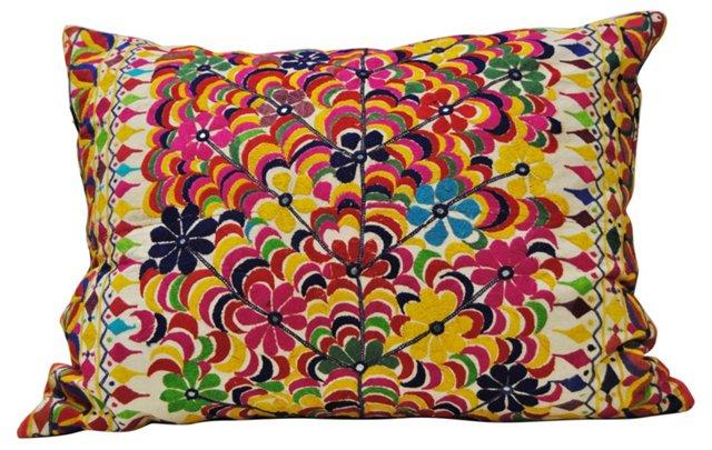 Rabari Tribal Embroidered Pillow