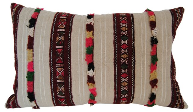 Moroccan Wool Tufted    Pillow