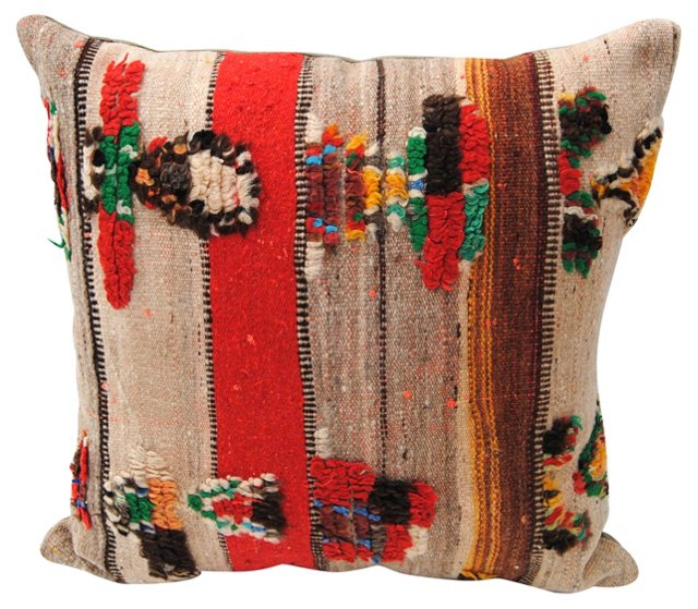 Moroccan Wool  Handloomed   Pillow