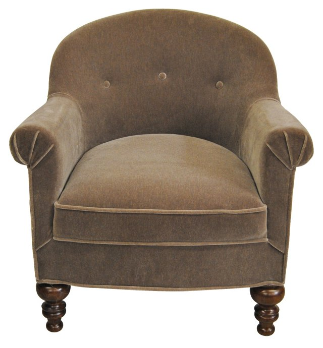 French Mohair & Linen   Chair