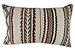 Handloomed Brown & Ivory Moroccan Pillow