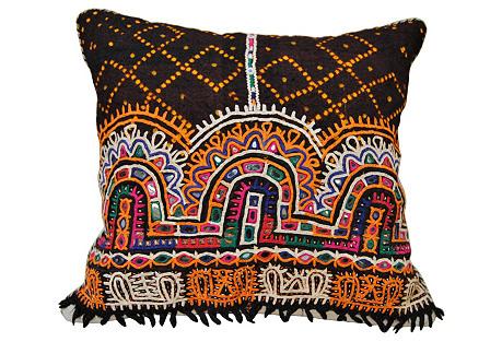 Tribal Rabari Wedding Shawl Pillow