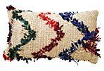 Tufted Beni Chevron Moroccan Wool Pillow