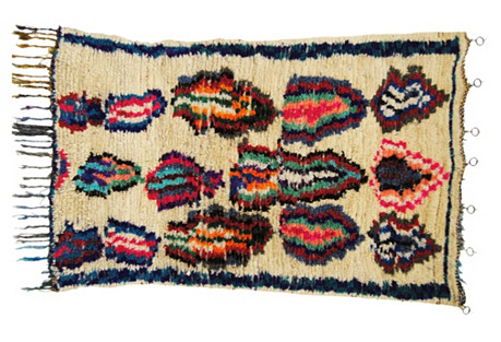 Moroccan Wool Azilal Rug, 4' x 5'11