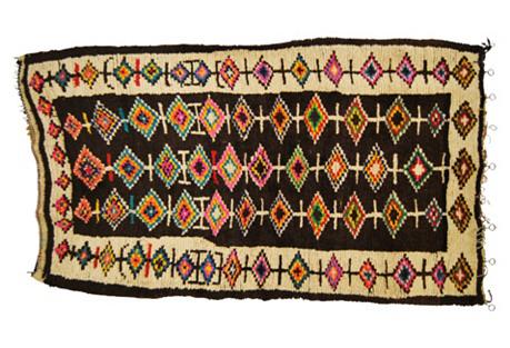Moroccan Wool Azilal Rug, 5'3