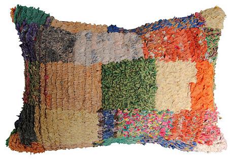 Moroccan Boucherouite Pillow  Handloomed