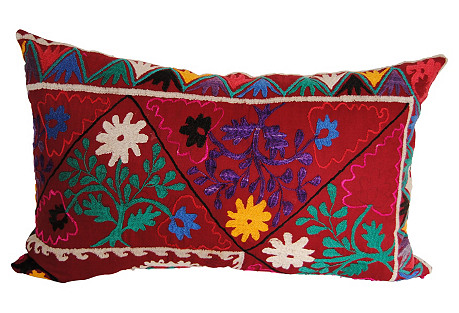 Custom Uzbekistan Embroidered Pillow