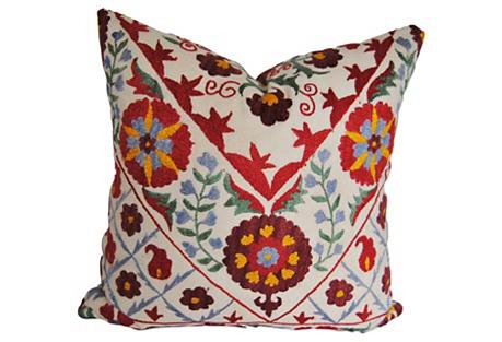 Embroidered Uzbe Custom Pillow