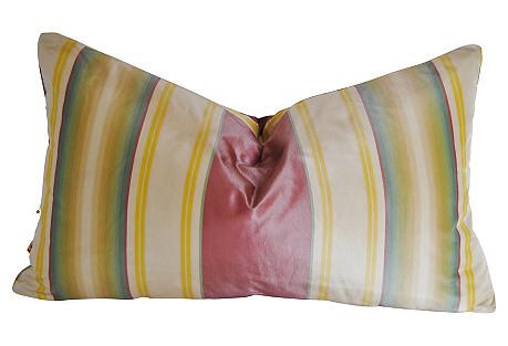 Custom Designer Silk Stripe Pillow
