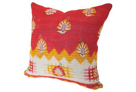 Custom Kantha Pillow