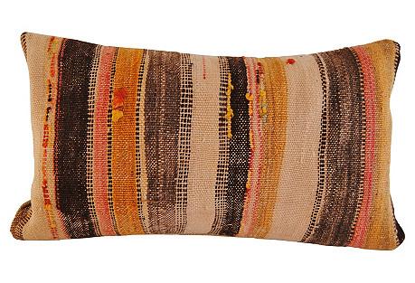Moroccan Wool Pillow, Earthtones