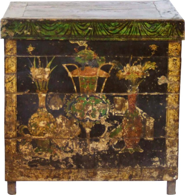 Antique Painted Chinese Square Table