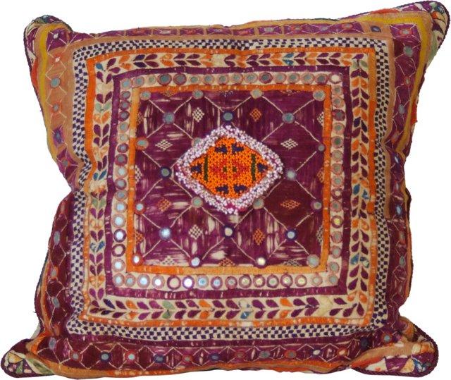 Beaded Medallion Pillow