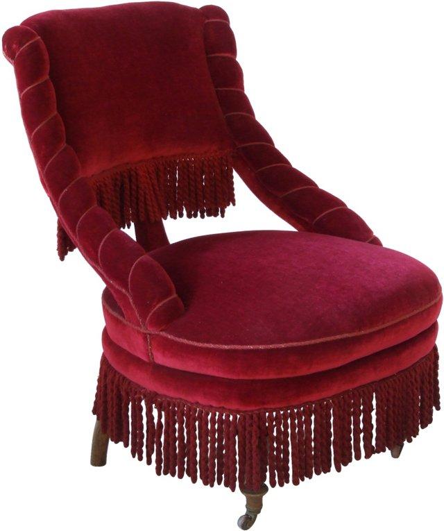 Antique Swedish Mohair Chair