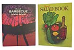 Sunset Barbeque & Salad Cookbooks, Pair