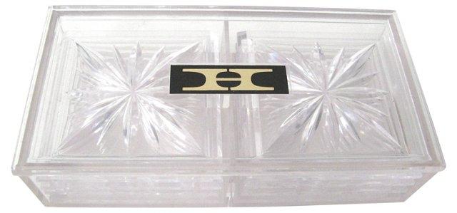Lucite Coasters w/ Box, Set of 9